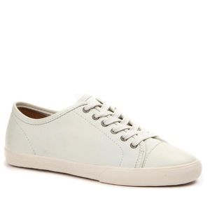 FRYE Leather Low Top Creme White Lace Sneakers 9